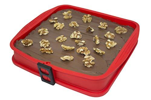 DoughEz - Molde redondo de silicona antiadherente para horno, apto para lavavajillas hasta 450 °F, sin BPA, materiales aprobados por la FDA.