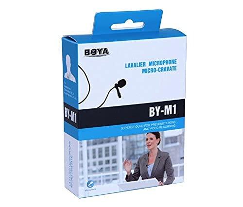 BOYA BY M1Micrófono de solapa para Smartphones Canon Nikon DSLR Videocámaras Grabadora de audio PC
