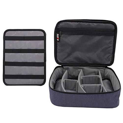 BUBM Kabel Organizer Gear Carry Case Reisetasche elektronische Zubehör Tasche für Telefon USB, Kabel, Batterie, Speicherkarten, Kosmetiktasche Grau