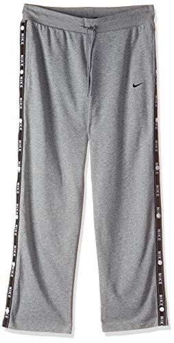 Nike Damen Sportswear Pant Logo Tape Popper Jogginghose, Grau (dk grey heather/063), Gr. L
