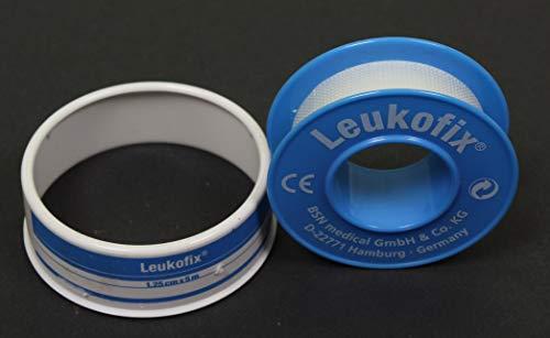 Leukofix Klebeband, transparent, 1,25cm x 5m, 2 Stück
