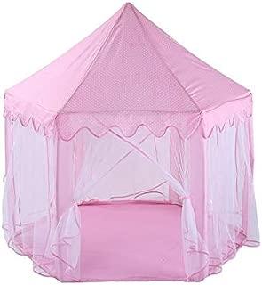 Pink Hexagon Play Castle Indoor Kids Play Tent Outdoor Boys Girls Playhouse