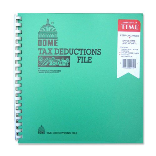 DOM912 - Tax Deduction File, w/Pockets, 11x9-3/4
