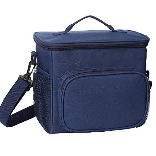 YMXYMM Isolierte Lunch-Tasche,Camping Picknick Kühlbox,Leichte wasserdichte Kühltaschen,Für Männer Frauen Erwachsene Kinder Oxford Stoff Picknicktasche,Navy Color