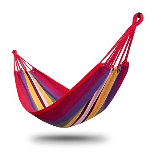 Zmsdt Personne Seule hamac extérieur hamac Voyage Camping balançoire Toile Rayure accrocher lit pour Voyage Camping arrière-Cour, Porche