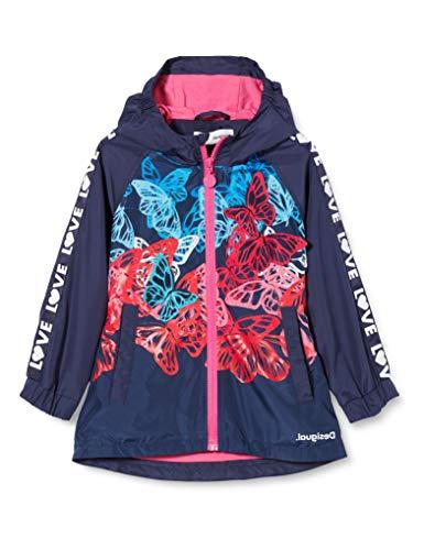 Desigual Mädchen CHAQ_FRESAS Mantel, Blau (Navy 5000), 164 (Herstellergröße: 13/14)