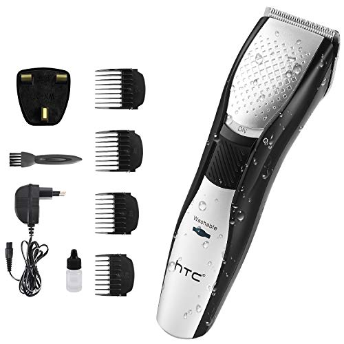 Hair Clipper for Men Professional Hair Clippers for Men Electric Haircut Kit Hair Trimmer with 4 Guide Combs (Cordless use/IPX7 Waterproof) for Men and Family Use