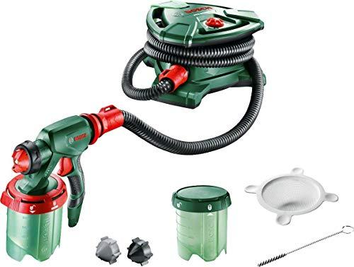 Bosch PFS 5000 E - Sistema de pulverización de pintura (1200 W, 2 depósitos para pintura de 1000ml, boquilla para pintura de paredes, barniz, esmalte, cepillo de limpieza) (Reacondicionado)