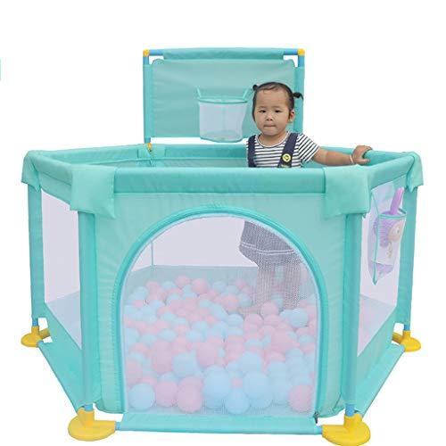 WYQ barrière de sécurité Parc pour bébé, Cour de Jeu en Tissu Oxford, Centre d'activités pour Enfants (2 Couleurs Disponibles) (Couleur : Green, Taille : 128×66cm)
