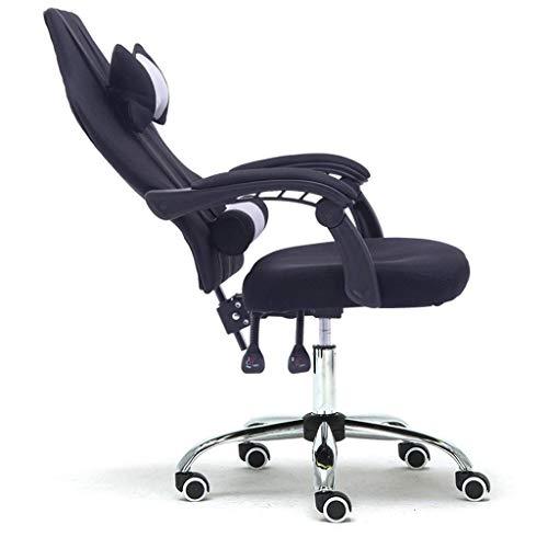 Gaming-Stühle Gaming Chair, Atmungsaktiver Racing-Bürostuhl für Schlafzimmer, E-Sports-Stuhl-Heimcomputer-Stuhl-Wettkampfspiel-Stuhl-ergonomischer Schwenker hoher Rückenlehnen-Liege-Computer-Schreibti