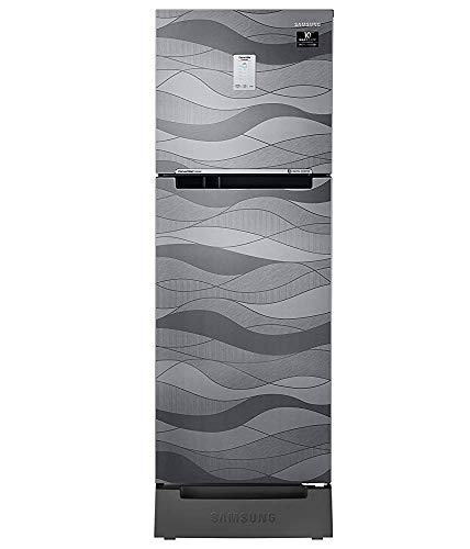 Samsung 244 L 3 Star Frost-Free Double Door Refrigerator (RT28T3C23NV/HL, Inox Wave, Base Stand with Drawer, Curd Maestro, Convertible)