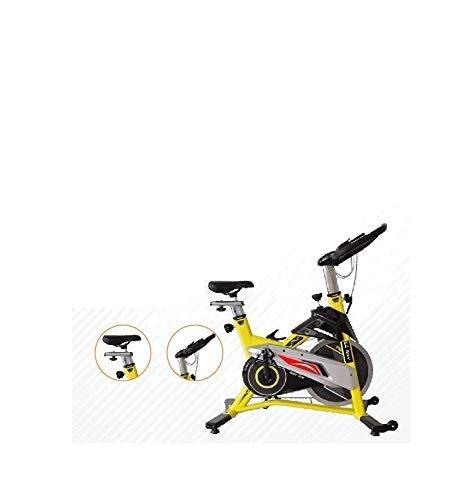 MONEX EZ Racer Exercise Fitness Spinning Bike, Yellow