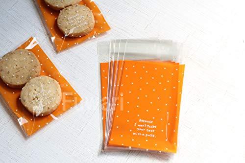【Fuwari】ドット カラフル 水玉 袋 小袋 お菓子 チョコレート クッキー キャンディー アクセサリー 小物 ラッピング バレンタイン ハロウィン 100枚 包装袋 小分け プレゼント (A, 7X10)