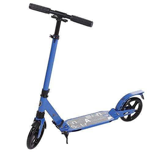 Leicht Scooter T-Style Stabile, aus Aluminiumlegierung, Klappbar und Höhenverstellbar, Big Wheel 195mm Räder Cityroller für Erwachsene