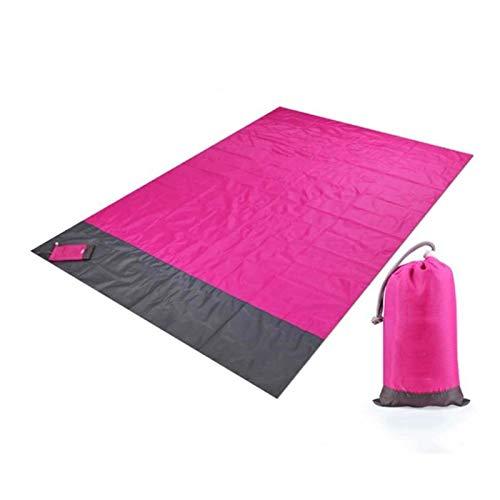 Manta de Picnic 2m * 1.4M Manta de playa a prueba de agua Matada de picnic portátil al aire libre Camping Tierra colchón Colchón Camping Cama Cama Cama de dormir ( Color : Red , Size : 200x140cm )