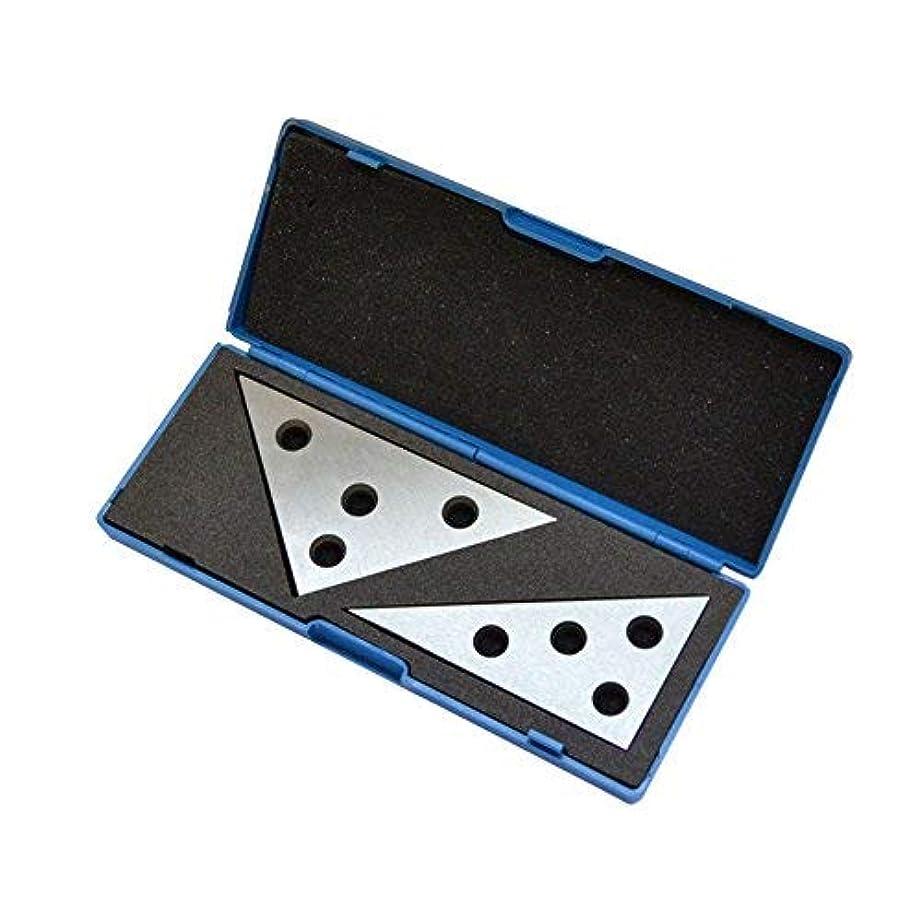 加入浴昼食2 Pc Solid Precision 30-60-90 Degree Angle and 45-45-90 Degree Angle Plates [並行輸入品]