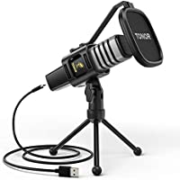 Tonor Condenser Computer PC Mic with Tripod Stand, Pop Filter, Shock Mount