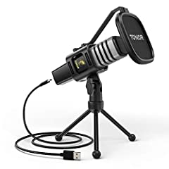 Plug and Play: With a USB 2.0 data port, no additional driver is required. TC30 is compatible with Windows, macOS and Linux. Ideal for gaming, podcasting, zoom meeting, streaming, Skype chatting, online conference. Cardioid Pickup Pattern: The mic ha...