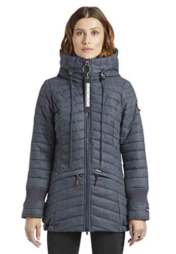khujo Damen Jacke FAST3 leichte Steppjacke mit Kapuze und Reißverschlusstaschen