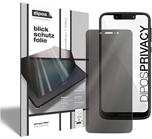 dipos I Protezione a 2 Vie Vista Compatibile con Motorola Moto G7 Power (Formato Verticale) I Pellicola Prottetiva Privacy