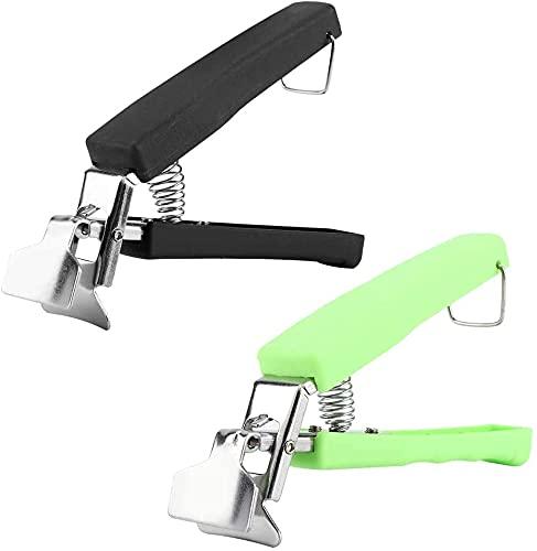 wangYUEQ Multi-función anti-escaldadura tazón clip plato abrazadera soporte de acero inoxidable herramienta de cocina freidora de aire herramienta de camping (2 piezas) (colores muestras)