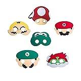 thematys Super Mario Masken Maske 6er Set - perfekt für Geburtstag, Karneval & Fasching - Kostüm...