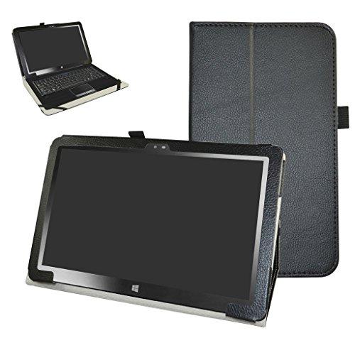 Insignia 11.6 NS-P11W7100 / NS-P11A8100 Case,Mama Mouth PU Leather Folio Stand Cover for 11.6' Insignia 11.6 NS-P11W7100 / NS-P11A8100 11.6 Inch Windows 10 Tablet PC,Black