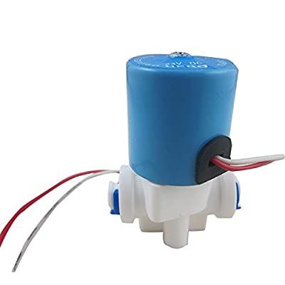 """TmallTech DC24V 1/4"""" Electric Solenoid Valve N/C Feed for RO Water Air with Quick Connect from TmallTech"""