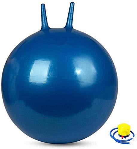 HUHAA Pelotas de Yoga 65 cm (25,6 Pulgadas) Pelota Hinchable Anti-explosión para Adultos- Niños- Mujeres Embarazadas Ejercicio Pelota de Fitness con Bomba de Aire Azul