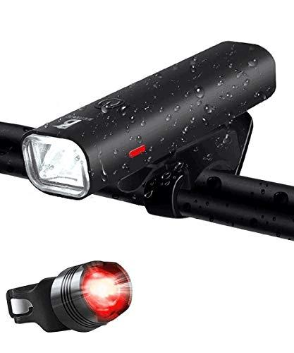 自転車ヘッドライト ロードバイクライト クロスバイクライト テールライト付属 LEDライト防水usb充電式 - ゴムシート付き 小型軽量 懐中電灯兼用 サイクリング ゴムシート付き 高輝度 ホルダー付き 夜釣り SOS 停電対策 防災用