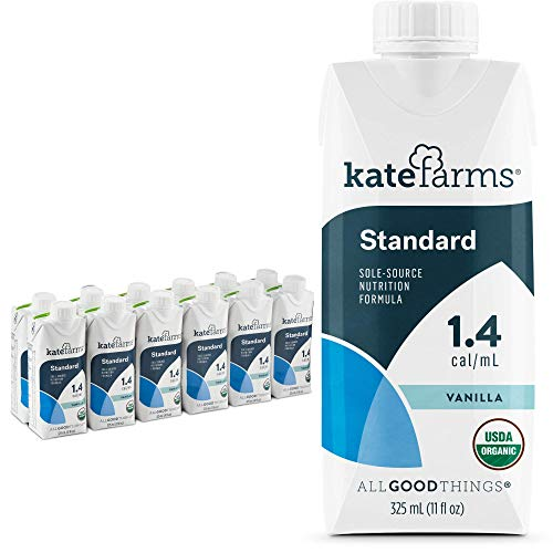 Kate Farms Adult Standard 1.4 Formula, Sole Source Nutrition, Meal-Replacement Shake or Supplemental Drink, Complete Vegan Protein Shake (Vanilla 1.4 cal/mL, Case of 12)