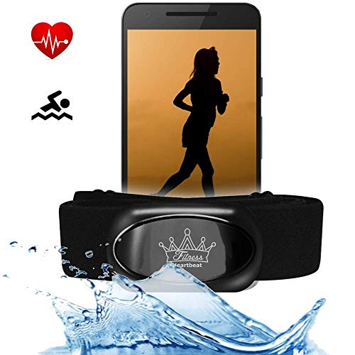 bestbeans© Heartbeat 2021 Swim Triathlon Bluetooth Low Energy & ANT+ Herzfrequenzmesser kompatibel mit RUNTASTIC Wahoo Sensor für Garmin Polar Fitnessstudio Schwimmen