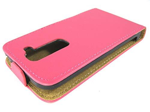 Funda Piel Premium Rosa/Fucsia Ultra-Slim para LG Optimus G2 Mini D620