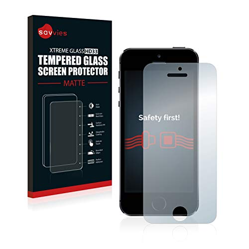 savvies Protector Cristal Mate Compatible con iPhone 5 / 5S / 5C...