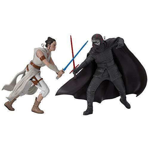 HMK Hallmark Keepsake 2019 Star Wars: The Rise of Skywalker Rey and Kylo Ren Ornaments