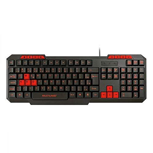 Teclado Gamer Com Hotkeys Multimida, Multilaser, Teclados, Preto/Vermelho