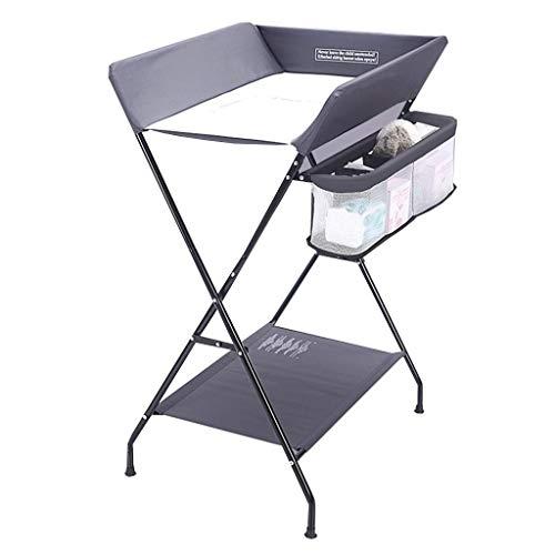 Table d'équipement de vie Station de table pliante portative pour bébé avec unités de couches de massage de stockage pour petit organisateur de chambre d'enfant pour nourrisson (Couleur: Gris Taill