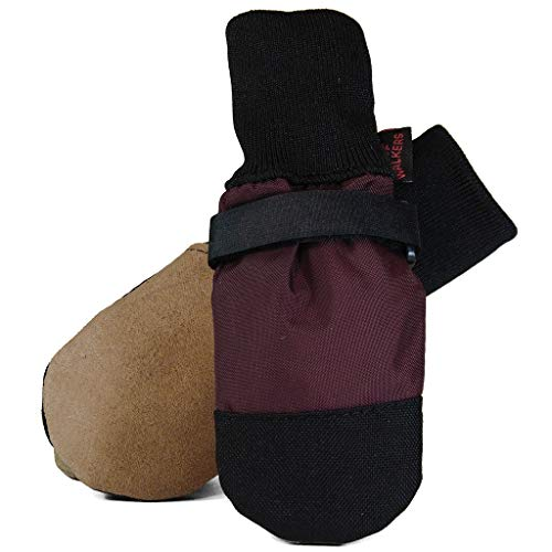 MUTTLUKS, Woof Walkers All-Season Dog Boots with Leather Soles for Summer or Winter Weather