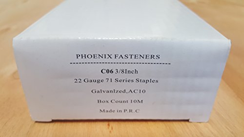 of staples order business cards Phoenix Fasteners Upholstery Staple C06 3/8 Crown X 3/8 Leg Galvanized Staple 22 Gauge 71 Series 2 Boxes of 10,000 Per Box