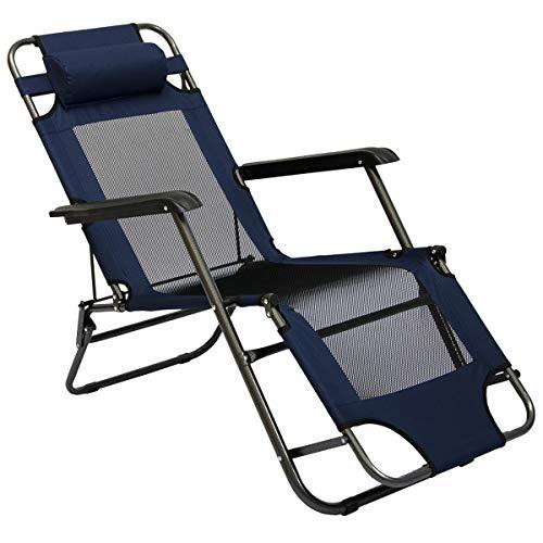 AMANKA Liegestuhl 155x60cm - Campingstuhl Sonnenliege Strandliege Gartenliege Klappliege
