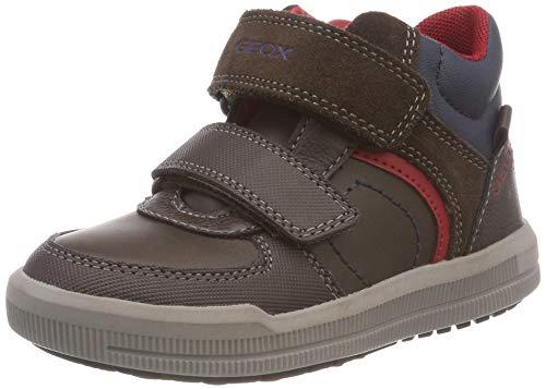 Geox Jungen J Arzach Boy B Hohe Sneaker, Braun (Coffee/Red C0911), 37 EU