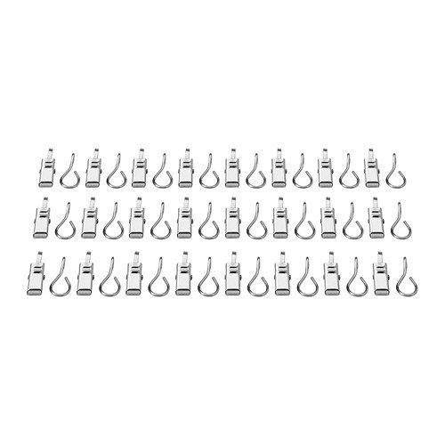 Ikea RIKTIG Gardinenhaken mit Clip–24Pack