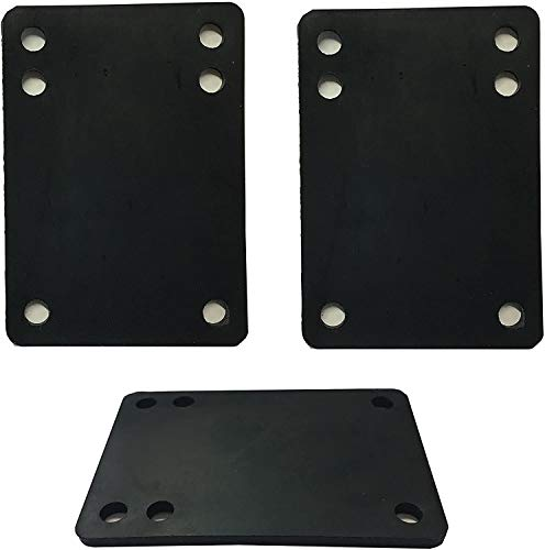 VJ Longboard Skateboard Riser Pads, Rubber, Set of 2, Size 3mm (1/8