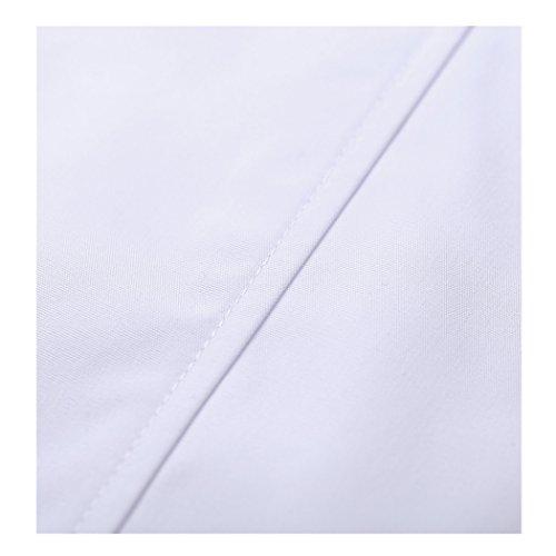 Kurzarm lange abschnitt weiß kittel ärzte krankenschwestern bekleidung arbeitskleidung arbeit (damen, M) - 6