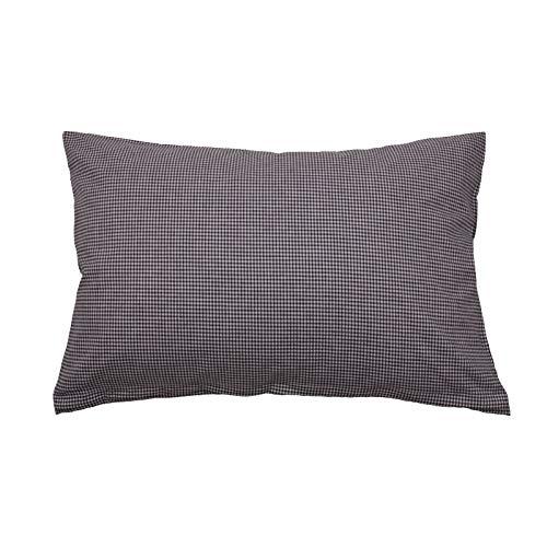 Hans-Textil-Shop Vichy Check Cushion Cover 2 x 2 mm - Checked Sofa Cushion, Decorative Cushion, Seat Cushion, Decorative Cushion (30 cm x 30 cm, Black)