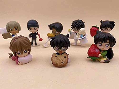 ZPTECH Exquisite Detective Conan Action Figures Chibi Figure Anime Figure Figure 8pcs / lot Feng (Colore: predefinito)-Predeterminato