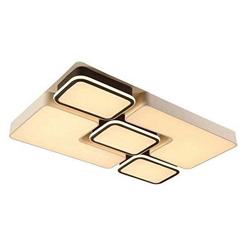 Lámpara de techo LED, rectangular, luz LED de pasillo, mando a distancia, atenuación de la luz, salón, comedor, dormitorio, moderno, familiar, hotel,