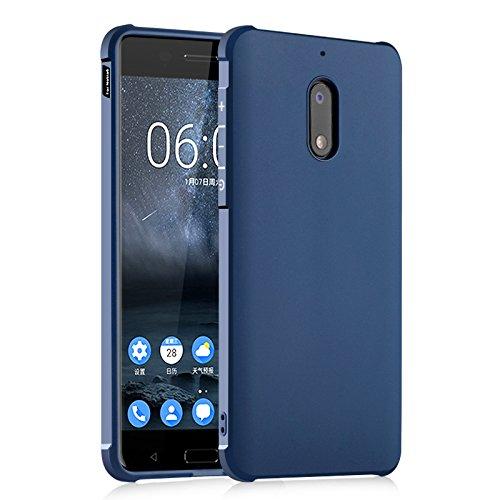SMTR Nokia 6 Hülle mit Silikon TPU Material & Farblich Muster Schutzhülle Handytasche für Nokia 6 -Blau