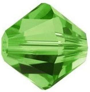 100pcs 4mm Adabele Austrian Bicone Crystal Beads Fern Green Compatible with Swarovski Crystals Preciosa 5301/5328 SSB415