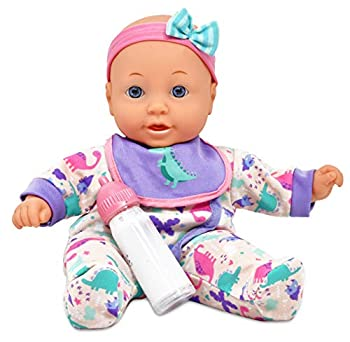 Dolls To Play 12 Inch Soft Body Baby Doll Magic Bottle and Bib Included  T6112